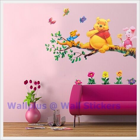 winnie the pooh kinder wandaufkleber wandgem lde. Black Bedroom Furniture Sets. Home Design Ideas