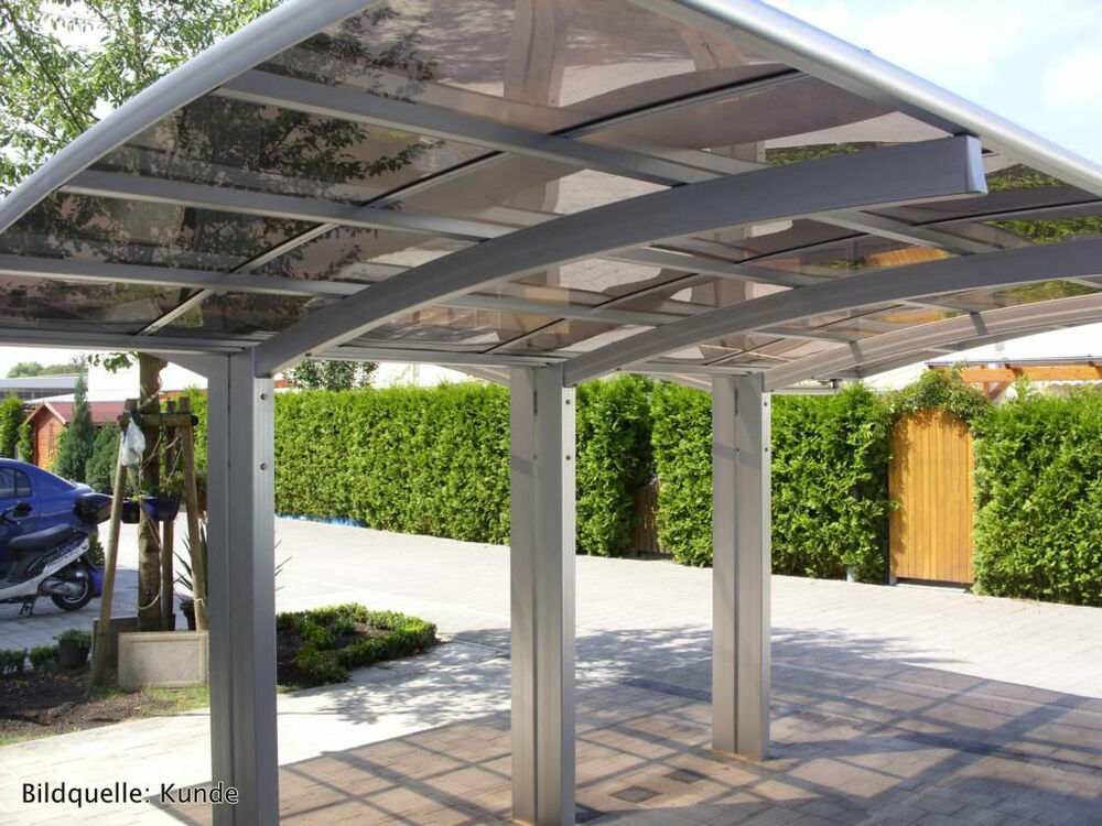 bernstein aluminium carport pulverbeschichtet 5400 x 2700 x 2700 mm freistehend ebay. Black Bedroom Furniture Sets. Home Design Ideas