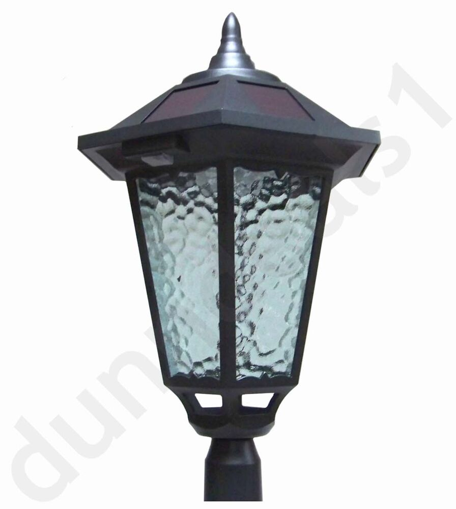 "4 Foot Outdoor Solar Powered Lamp Post With: Westinghouse 84"" (7 Ft) Solar Lamp Post Outdoor Black"