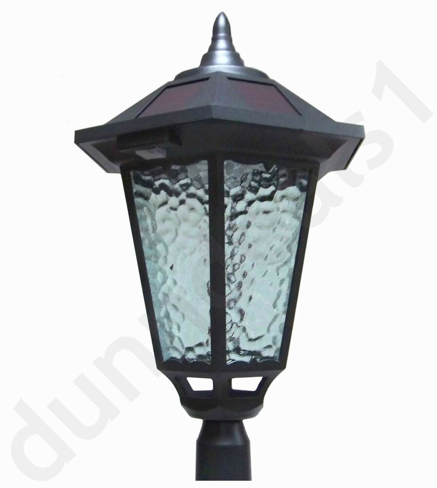 westinghouse 84 7 ft solar lamp post outdoor black diecast aluminum. Black Bedroom Furniture Sets. Home Design Ideas