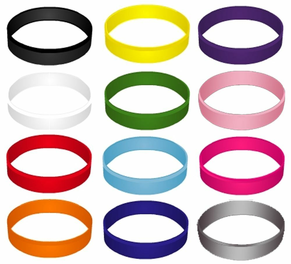 Color Silicone WristBands | USA Shipping