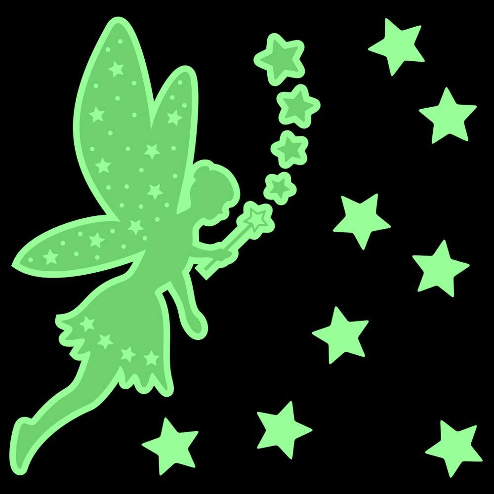 Glow In The Dark Sparkle Fairy Stickers Stars Wall Ceiling