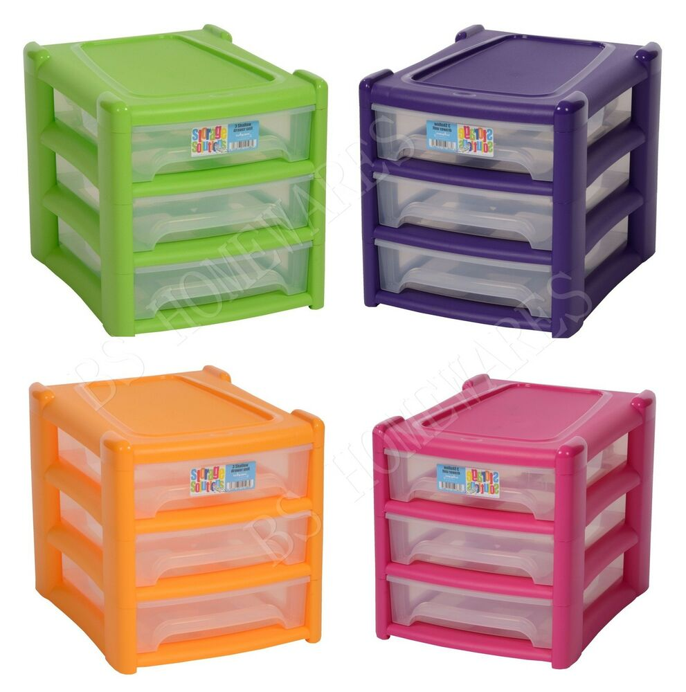 plastic storage drawer shallow 3 tier bedroom office tower cabinet