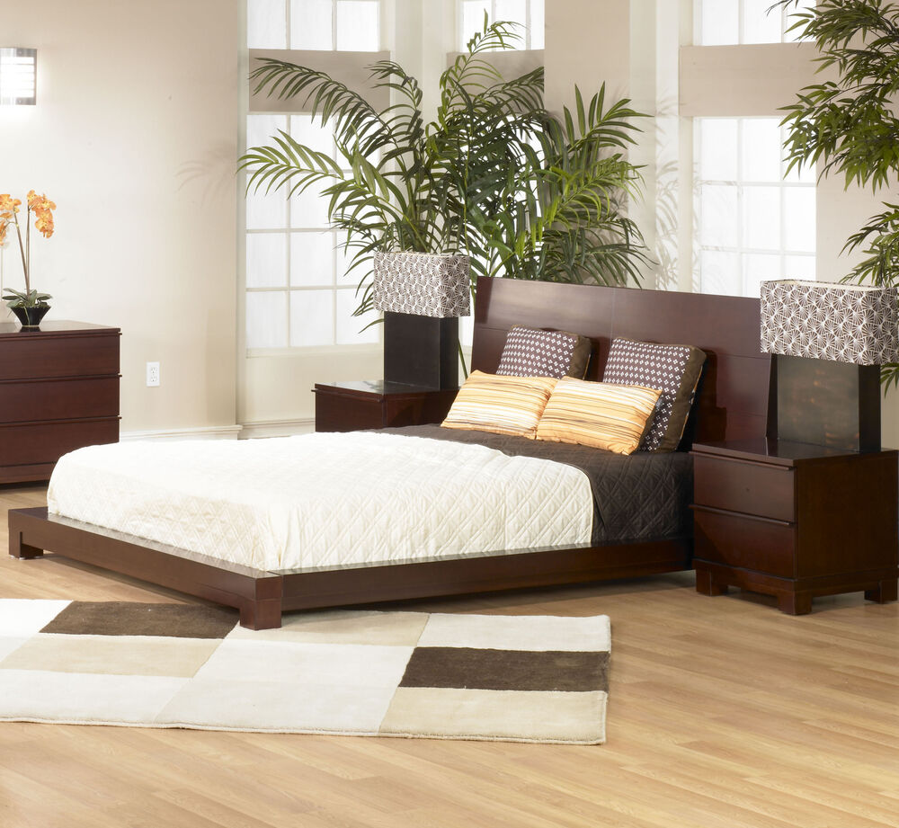 southport solid wood platform bed 3 piece bedroom set ebay