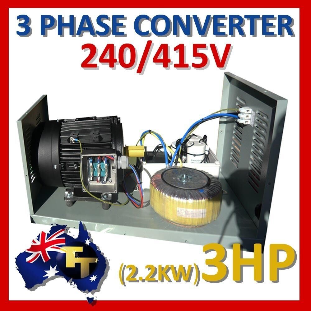 single to three phase converter 240v to 415v 3hp 2 2kw part no mmt2 2 ebay. Black Bedroom Furniture Sets. Home Design Ideas