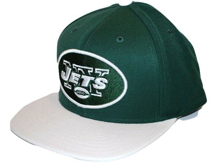 06d1dc237ca Details about NY New York Jets Reebok NFL Football Oval Logo Flatbrim Snapback  Cap Hat