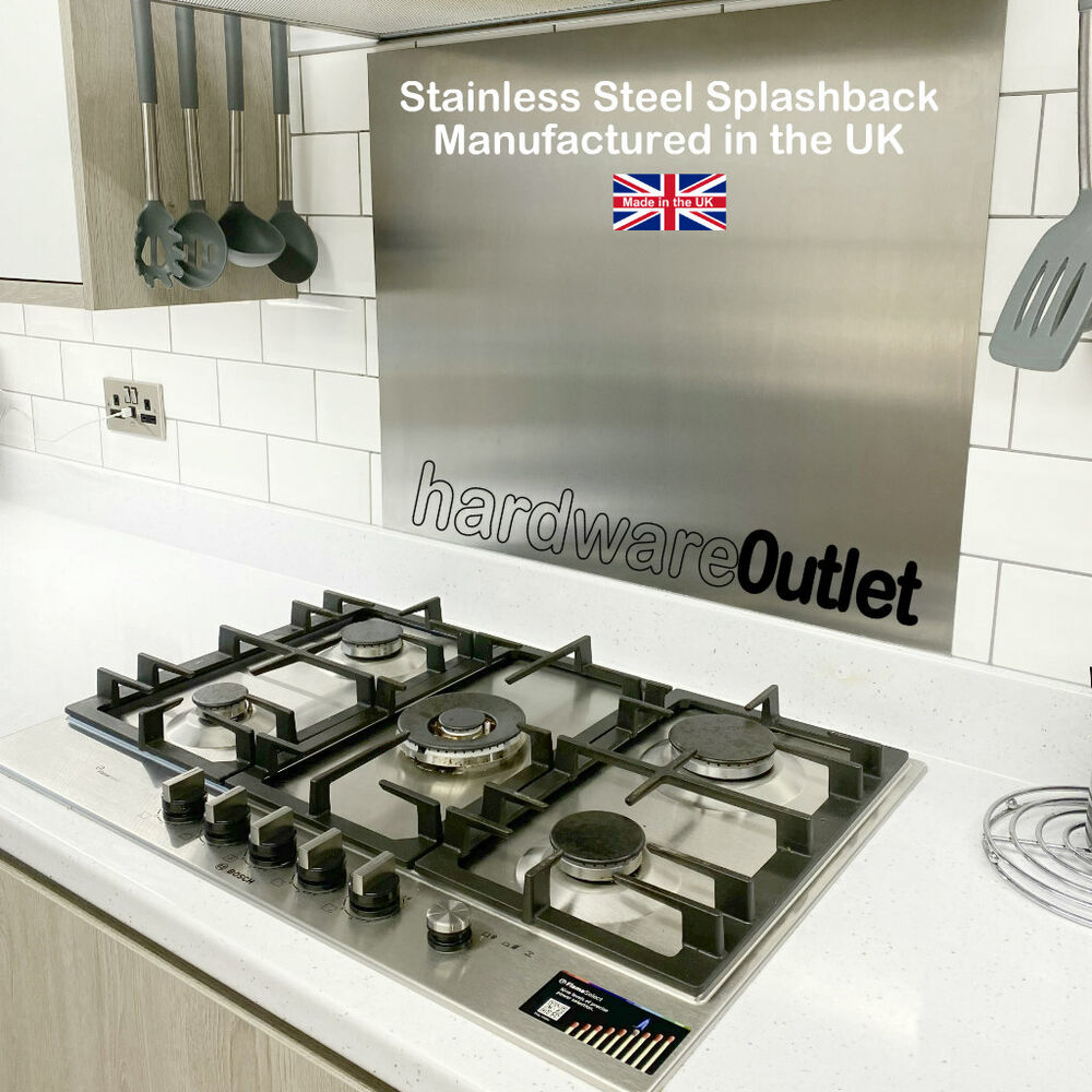 how to clean brushed stainless steel splashback