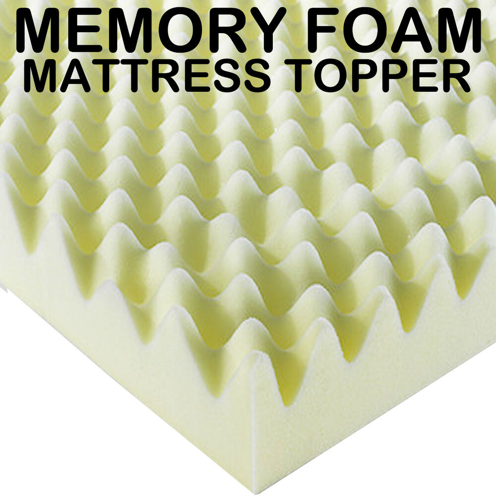 egg shell memory foam mattress topper double 4ft6 size. Black Bedroom Furniture Sets. Home Design Ideas
