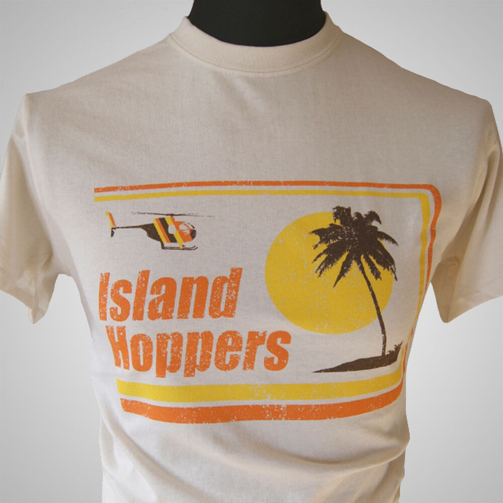 island hoppers magnum pi tv themed retro t shirt classic. Black Bedroom Furniture Sets. Home Design Ideas