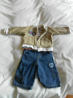 BABY BOYS JASPER CONRAN OUTFIT AGE 3 - 6 MONTHS 013.501