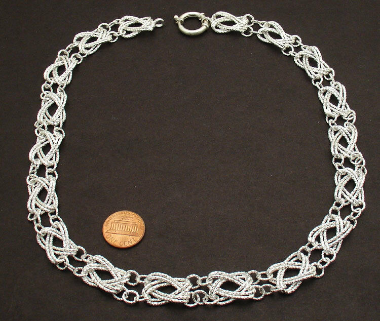 925 Silver Chain >> Bold Diamond Cut Eternity Link Chain Necklace Sterling ...