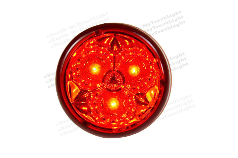 2 Quot Round 3 Red Led Lens Trailer Truck Rv Clearance Marker