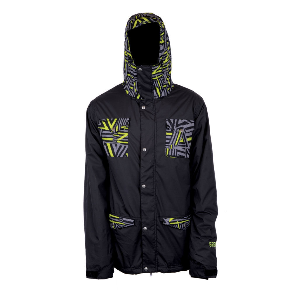 ad2704c0e49 Details about BRAND NEW W  TAGS Grenade FIELD DOOM VISION Snowboard Jacket  BLACK MEDIUM-XLARGE