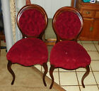 Pair of Mahogany Parlor Chairs or Entry Chairs  (SC124)