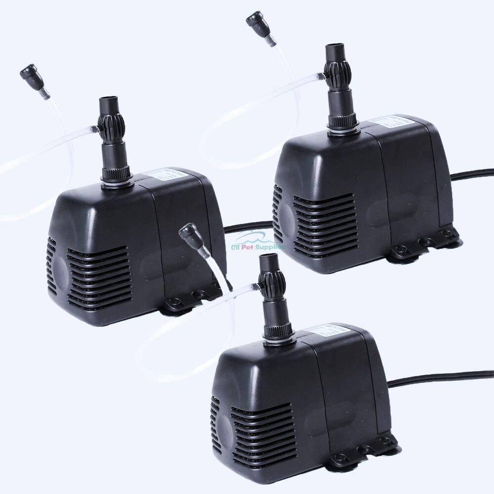 3 pcs 370 gph submersible pump aquarium pond powerhead for Pond water pump