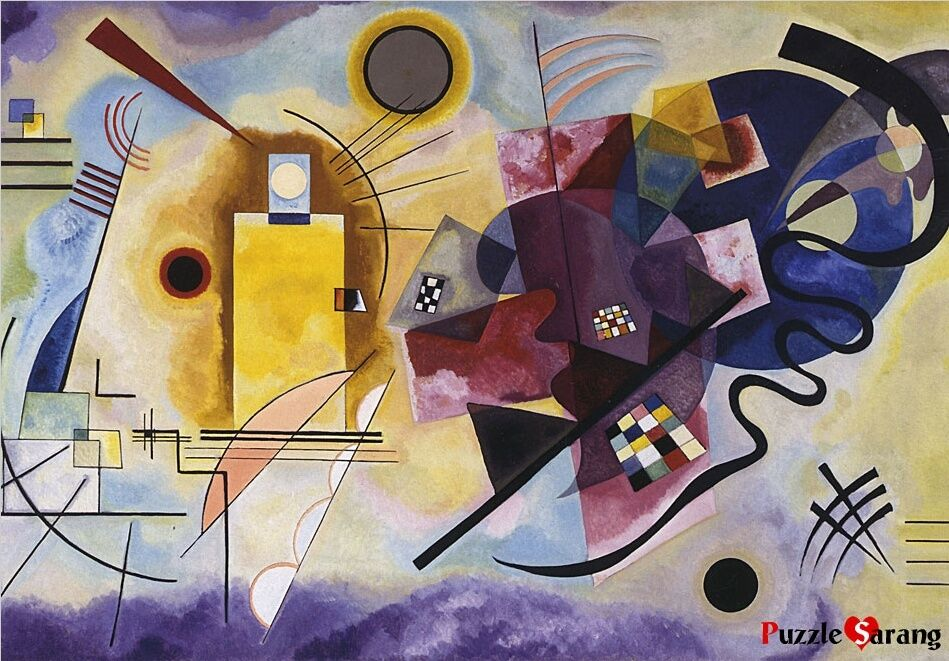Jigsaw puzzles 1000 pieces jaune rouge bleu wassily for Puzzle kandinsky