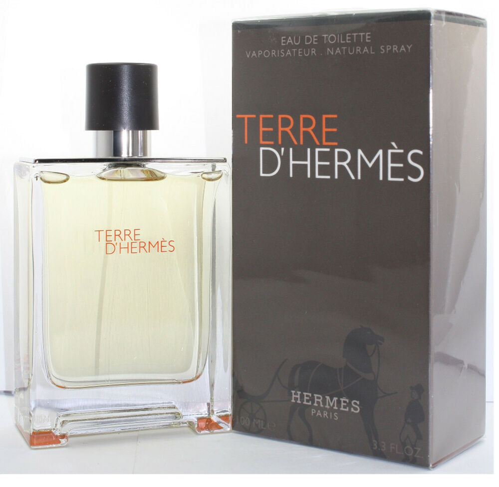 terre d 39 hermes by hermes for men eau de toilette 3 4 3 3 oz 100 ml spray nib 3346130410782 ebay. Black Bedroom Furniture Sets. Home Design Ideas