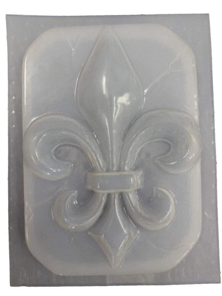 decorative fdl fleur de lis plaque concrete plaster cement mold 7135 ebay. Black Bedroom Furniture Sets. Home Design Ideas