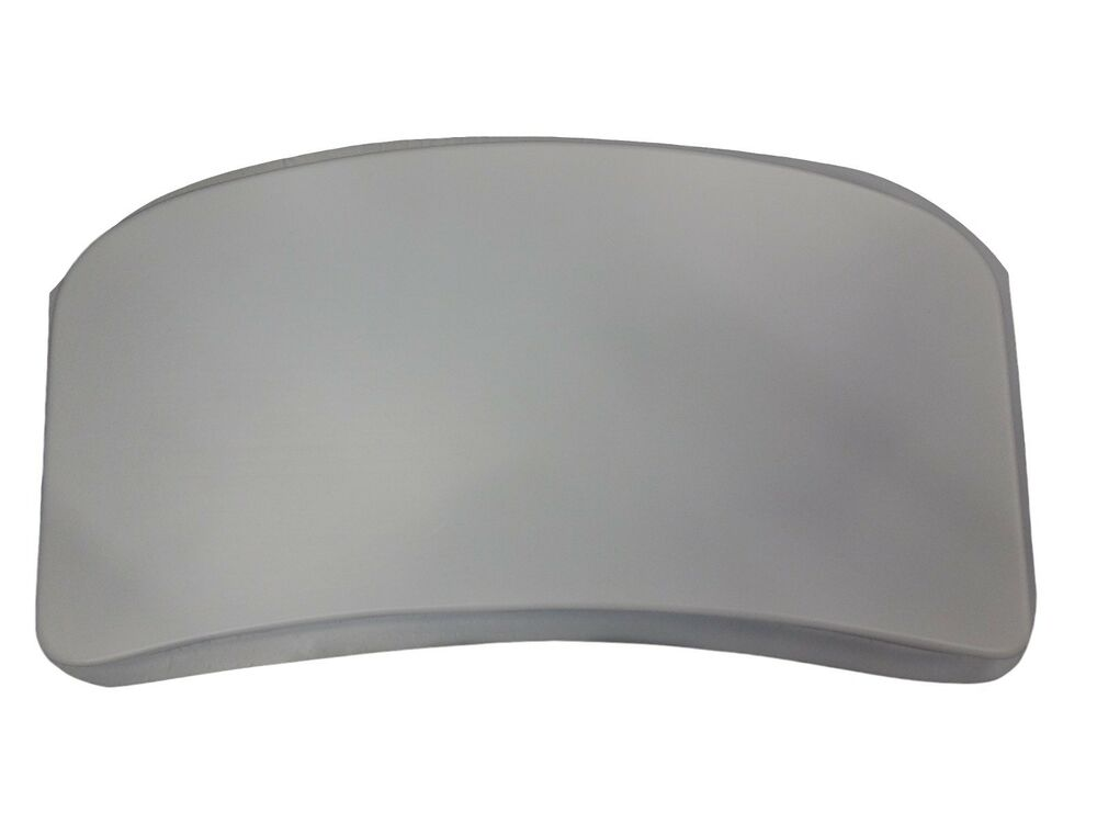 Curved Bench Seat Top Plain Smooth Concrete Cement