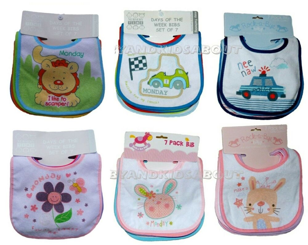 Keep baby clean and dry with the help of this colorful Pack set of Bibs from Luvable Friends. Featuring a soft and absorbent fabric with any easy closure, these fun bibs feature an assortment of fun colors, an essential for a tidy mealtime.