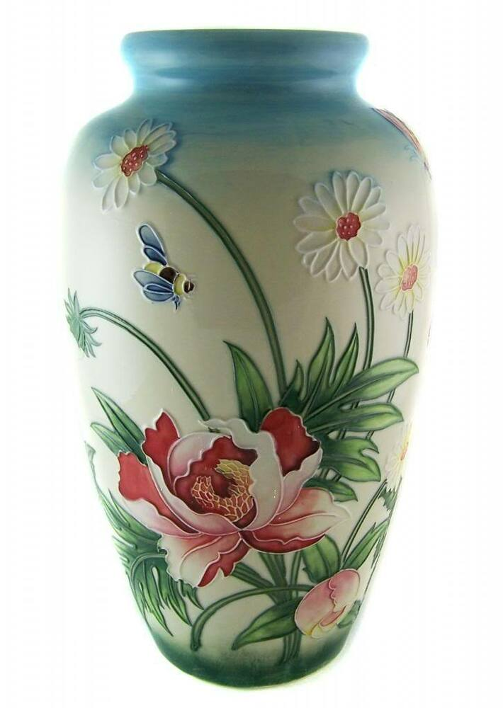 Porcelain old tupton ware garden flowers vase 28cm tall decorative home decor ebay - Great decorative flower vase designs ...