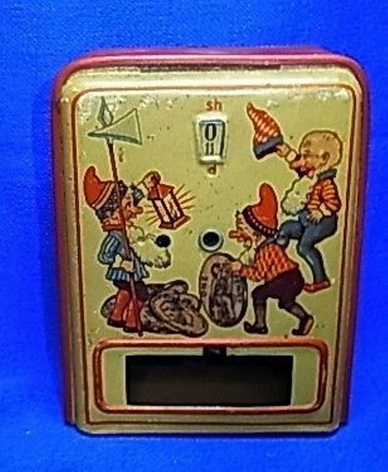 Vintage Or Antique Money Bank Mechanical With Gnome And