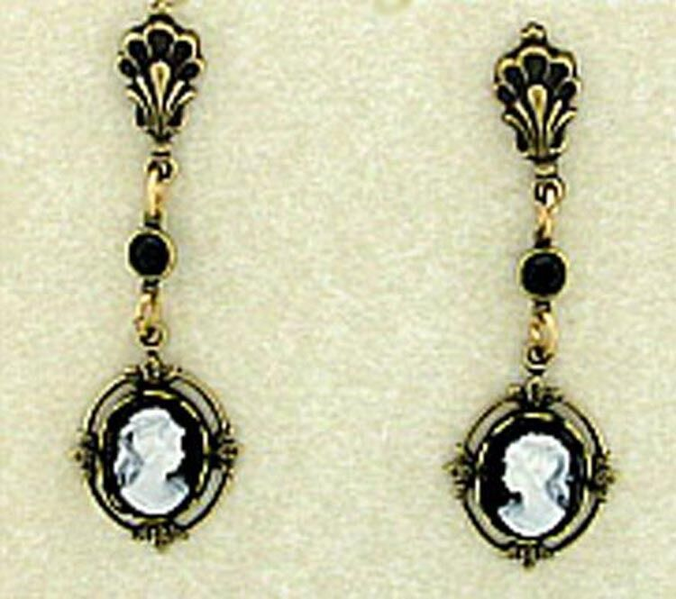 Permalink to Cameo Drop Earrings