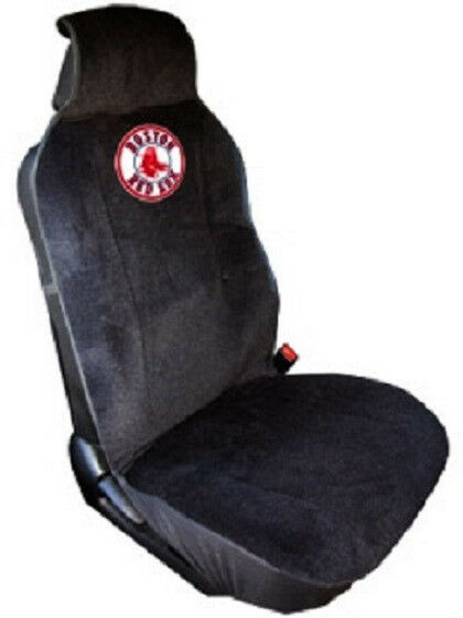 boston red sox embroidered seat cover new car auto mlb black truck suv cdg ebay. Black Bedroom Furniture Sets. Home Design Ideas