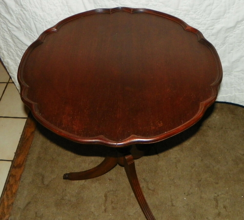 Mahogany Pie Crust Duncan Phyphe Style Table Rp T330