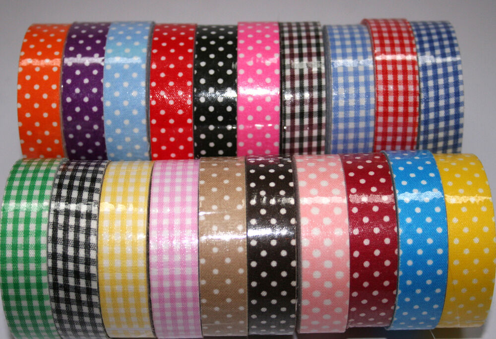 Washi Tape Cotton 15mmx 4m Roll Decorative Sticky Paper