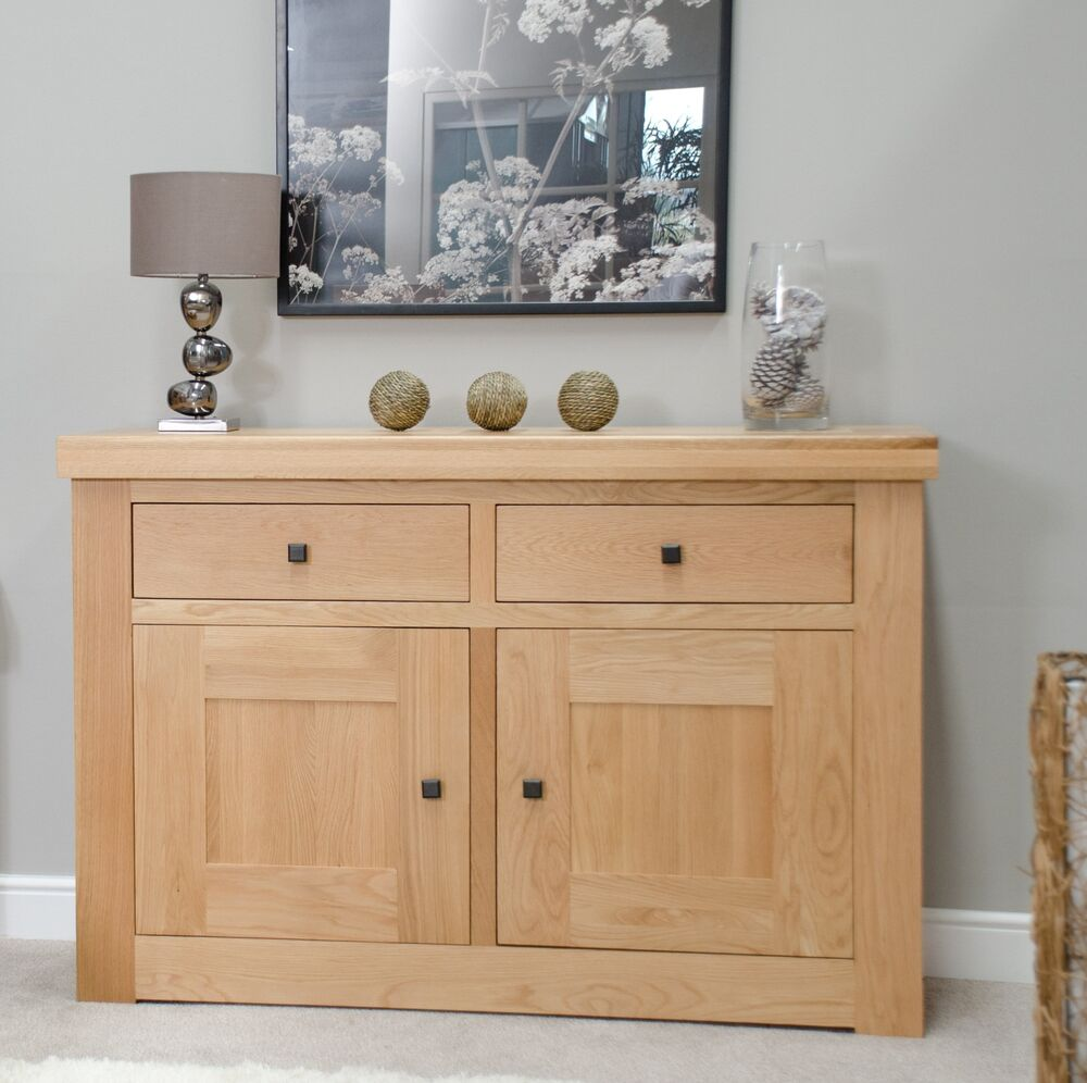 oak living dining room furniture small storage sideboard ebay