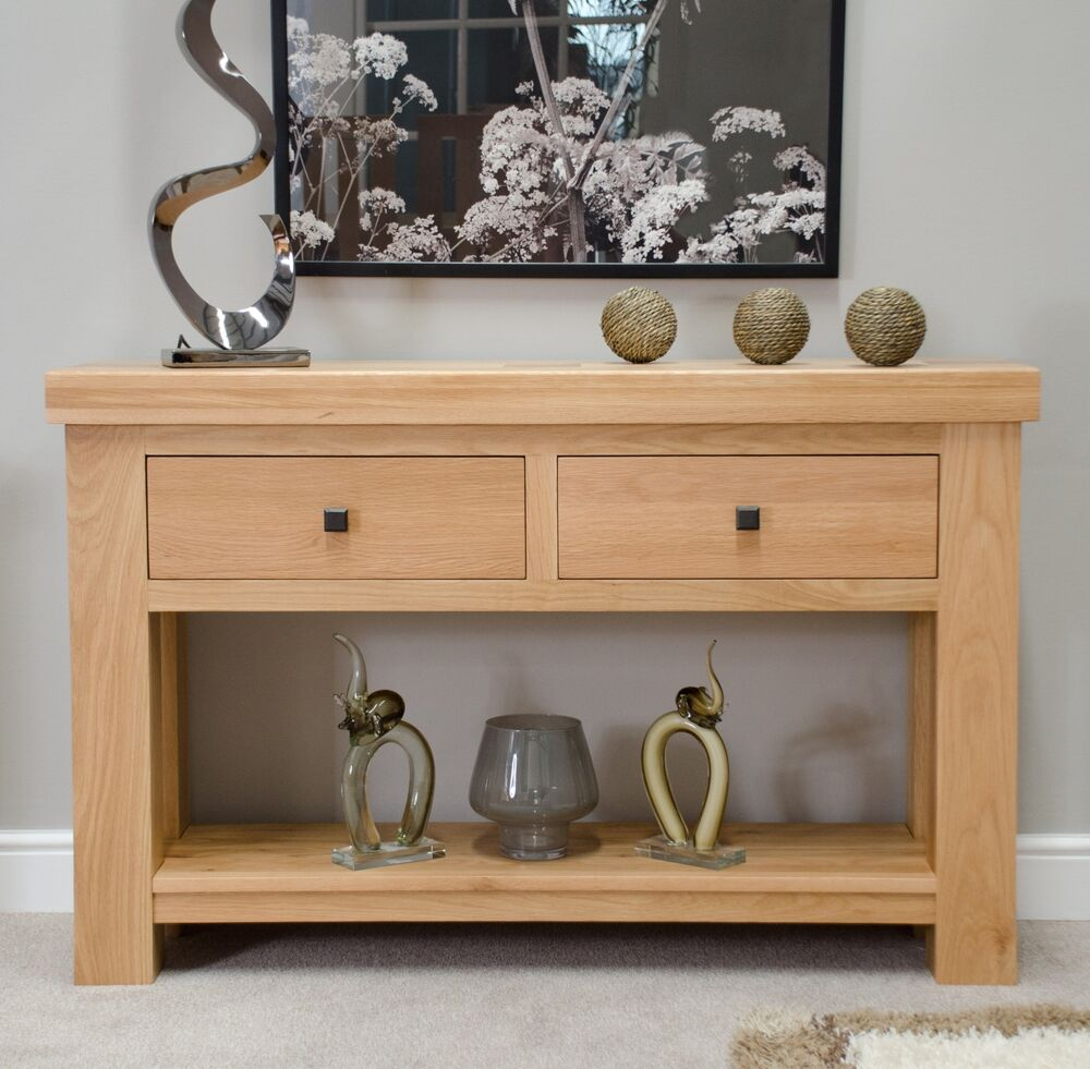 Belgrave Solid Premium Oak Hallway Furniture Console Hall Table Ebay