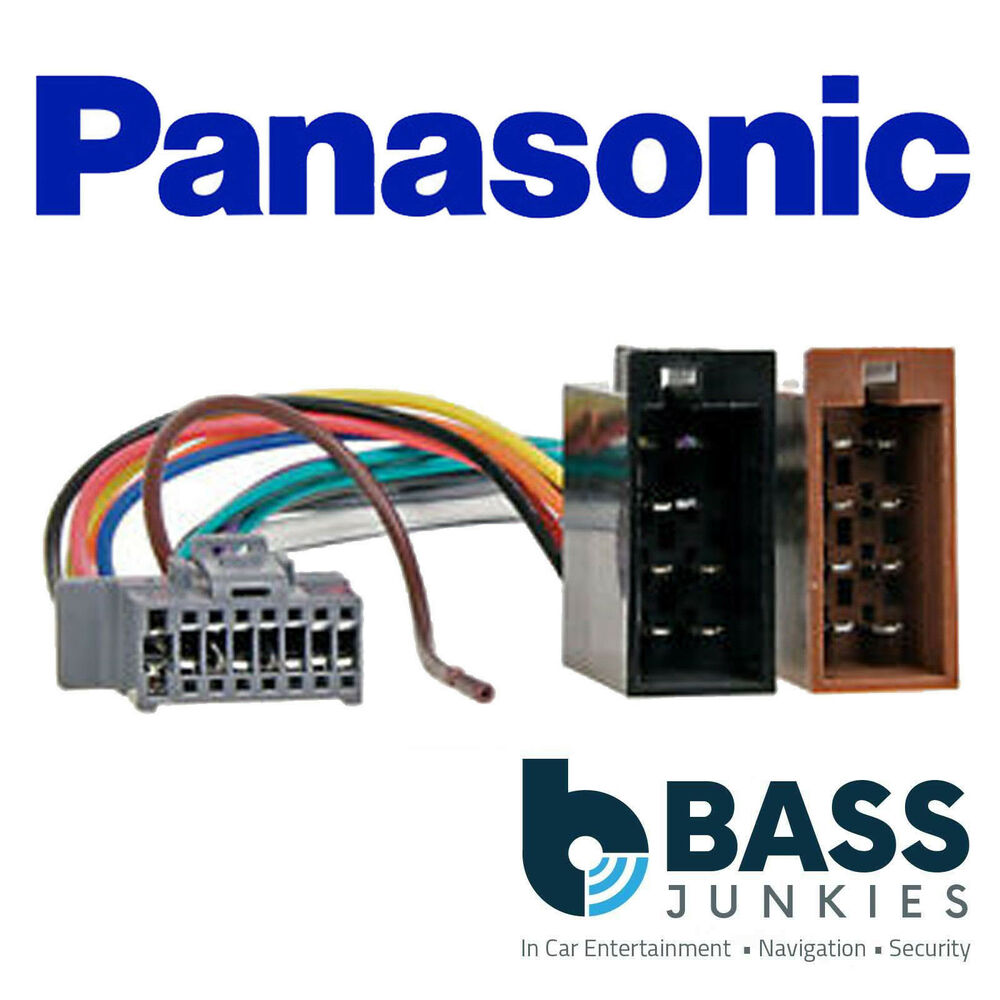 panasonic 16 pin iso replacement car stereo radio wiring loom harness pc3 488 ebay