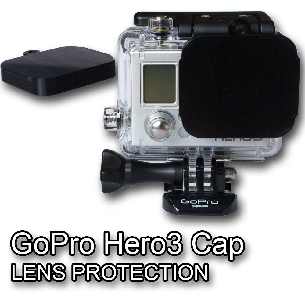 gopro hero 3 lens cap hero3 protector ebay. Black Bedroom Furniture Sets. Home Design Ideas