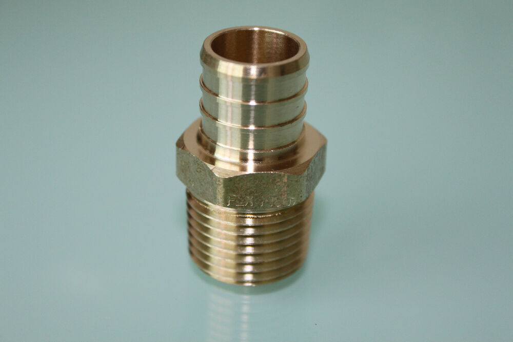 New quot pex mpt adapter brass crimp