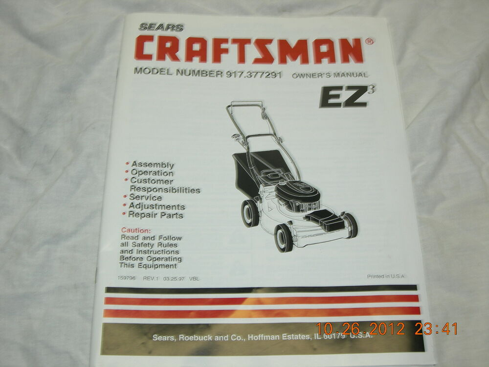 Craftsman Model 917 377291 Owners Manual