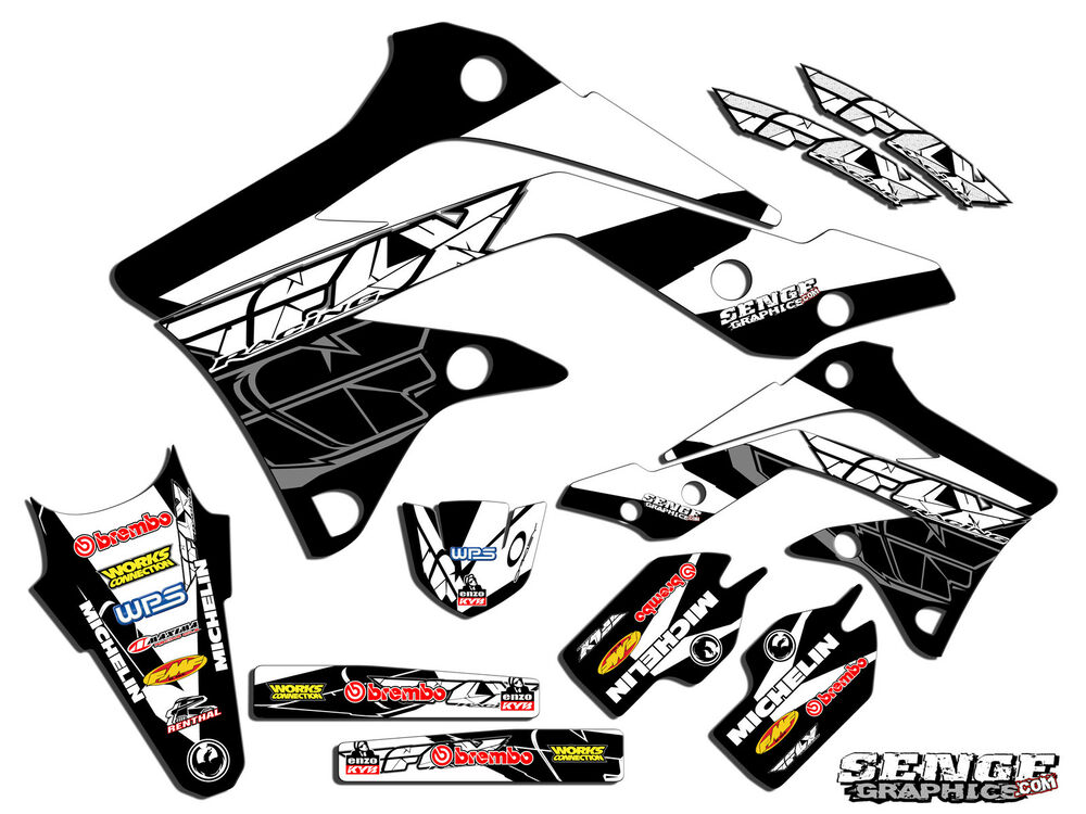 2009 2010 2011 2012 kxf 250 graphics kit kawasaki kx250f for Stickers murs deco