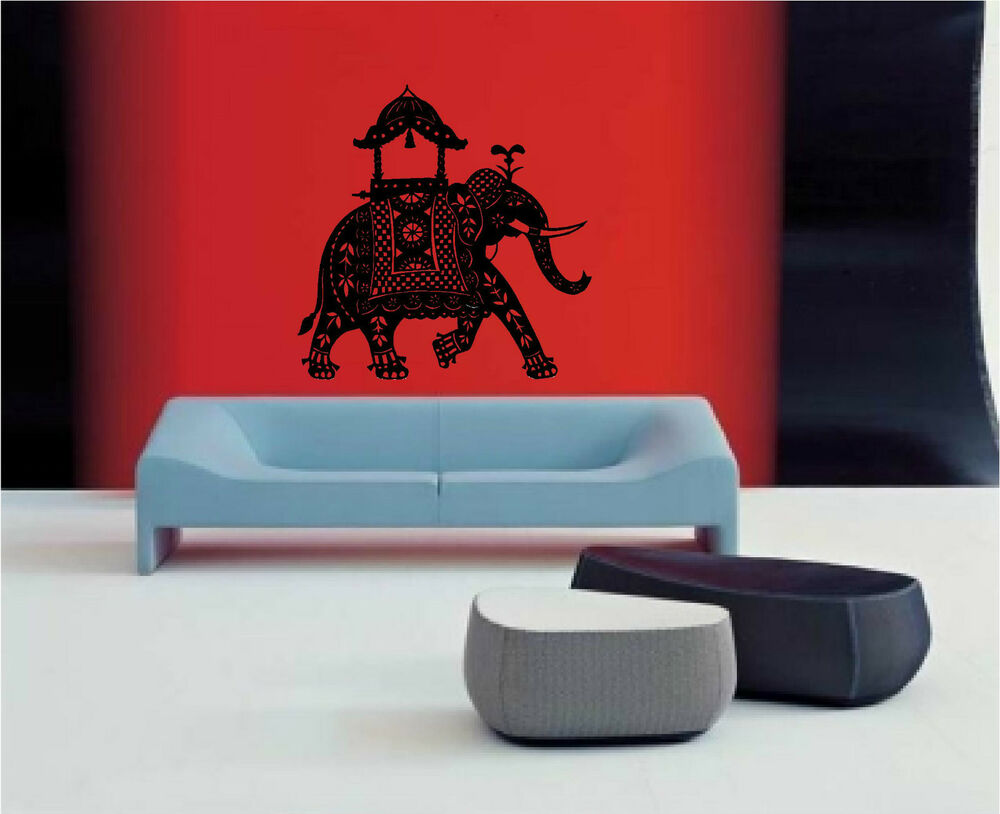 Decorated Indian Elephant Wall Art Sticker Decal Ebay: home decor paintings for sale india