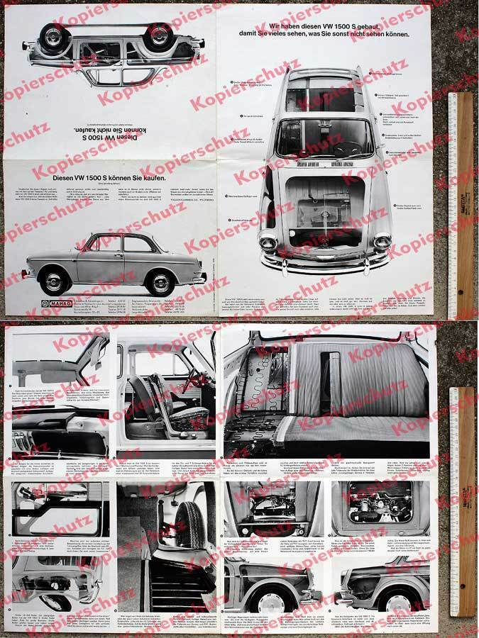 werbe faltblatt volkswagen phantom fotografie vw 1500 s typ 3 mahag m nchen 1963 ebay. Black Bedroom Furniture Sets. Home Design Ideas