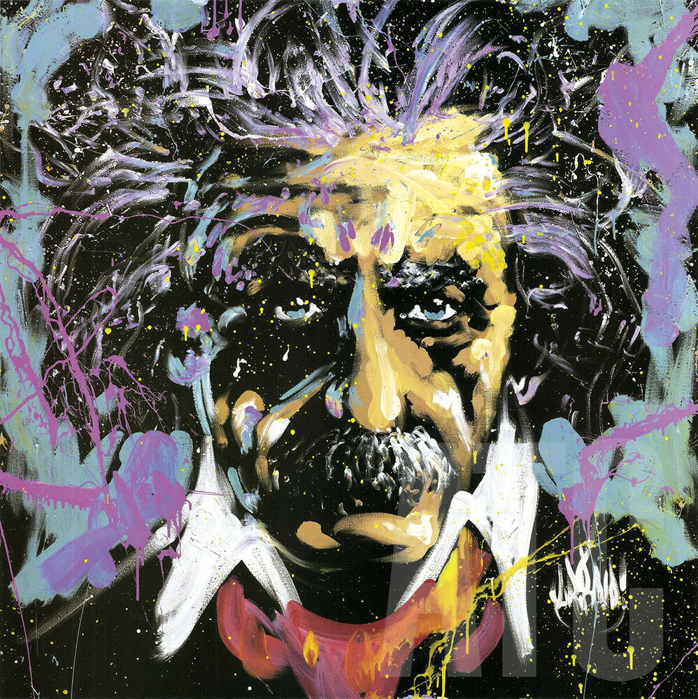 "24""x24"" EINSTEIN E=MC2 By DAVID GARIBALDI COLORFUL"