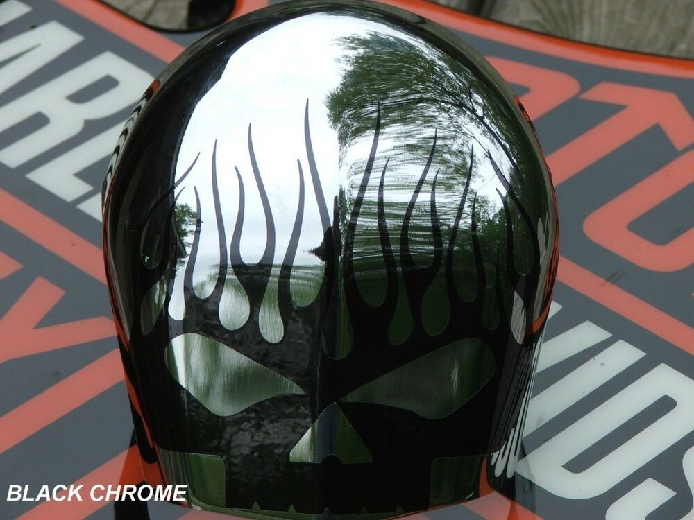 Harley Davidson Cover: Skull Graphic For Horn Cover Fits Harley Davidson Softail