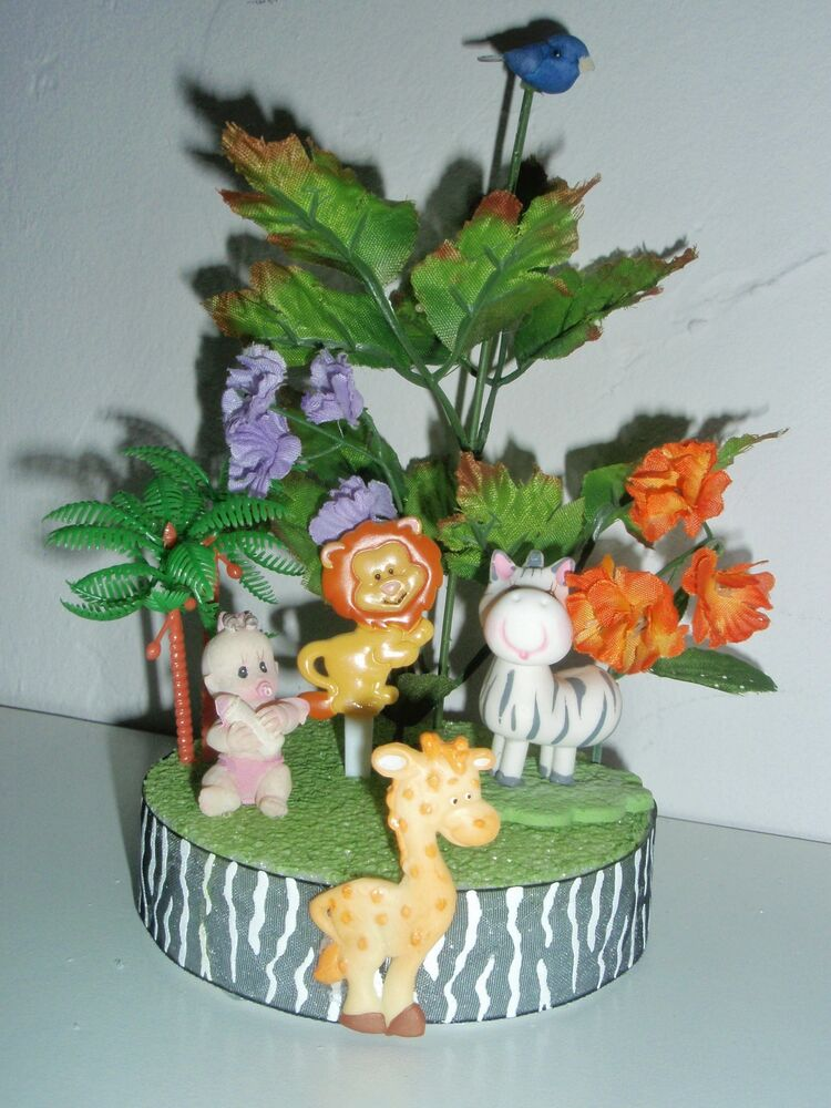 jungle safari theme baby shower topper diaper cakes centerpiece cold