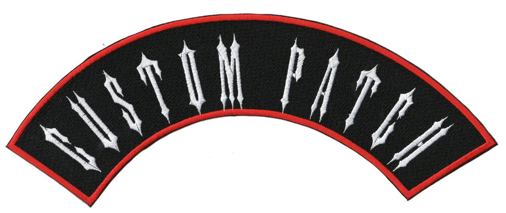 CUSTOM EMBROIDERED SMALL ROCKER PATCH 4