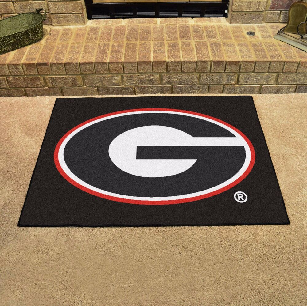 Georgia bulldogs 34 x 43 all star area rug floor mat ebay for Georgia floor