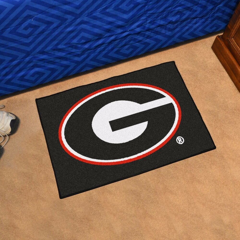 Georgia bulldogs 19 x 30 starter area rug mat ebay for Georgia floor