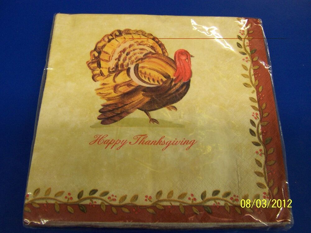 Country thanksgiving turkey fall autumn holiday party for Turkey napkins