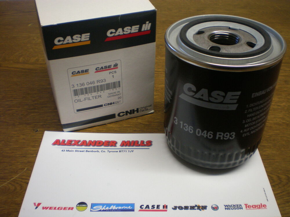 Case Backhoe Filters : Case ih tractor genuine engine oil filter