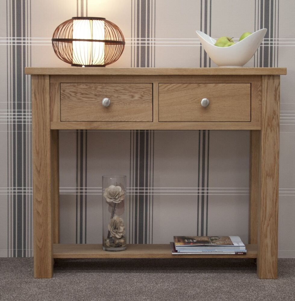 kingston solid oak hallway furniture small console