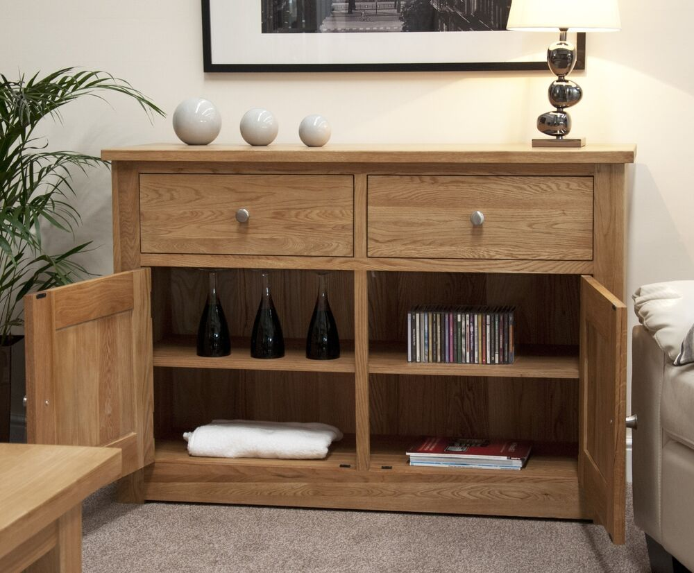 Kingston Solid Oak Living Dining Room Furniture Storage Sideboard EBay