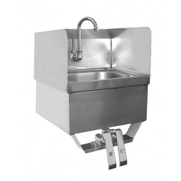 Hand Sink W Splash Guards Knee Operated 16 Quot X15 Quot No Lead